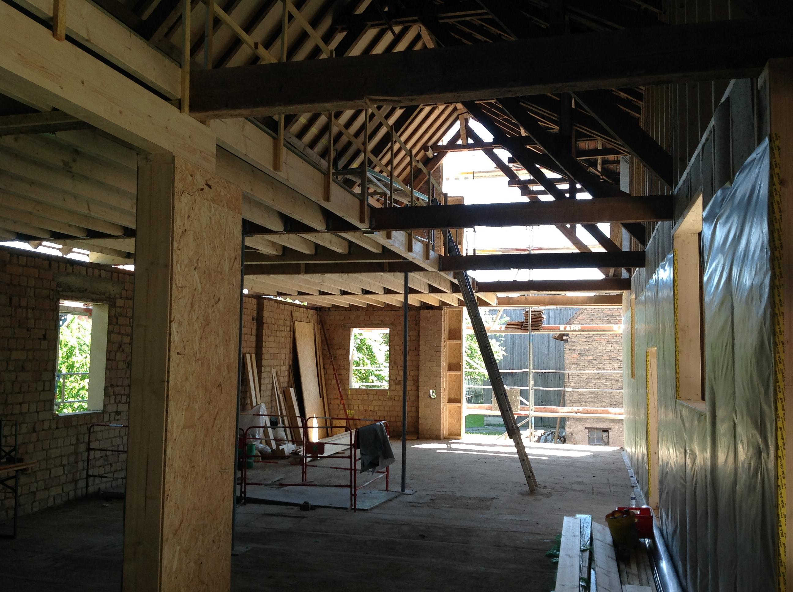 grange foin en habitation gilles kempf architecte dplg. Black Bedroom Furniture Sets. Home Design Ideas
